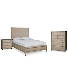 Sutton Place Upholstered Bedroom 3-Pc. Set (Queen Bed, Nightstand & Chest), Created for Macy's