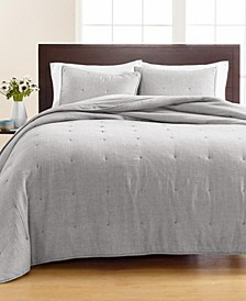 Tufted Chambray Quilt and Sham Collection, Created for Macy's