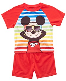 Toddler Boys 2-Pc. Mickey Mouse Graphic Pajamas