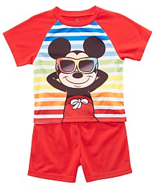 AME Toddler Boys 2-Pc. Mickey Mouse Graphic Pajamas