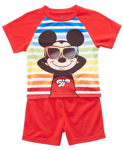 AME Toddler Boys 2-Pc. Mickey Mouse Graphic Pajamas