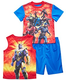 Little & Big Boys 3-Pc. Avengers Graphic Pajamas Set