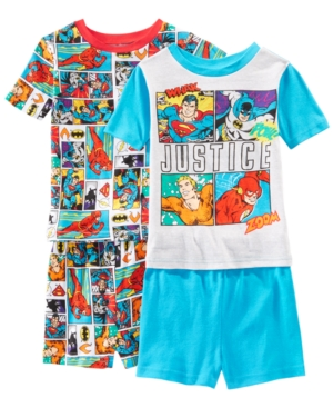Image of Ame Little & Big Boys 2-Pack Justice League Graphic Cotton Pajamas