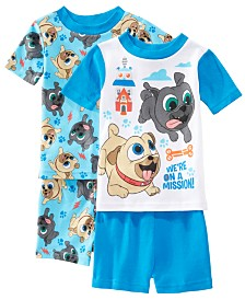AME Toddler Boys 2-Pack Puppy Dog Pals Graphic Cotton Pajamas