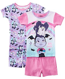 AME Little & Big Girls 2-Pack Vampirina Graphic Cotton Pajamas