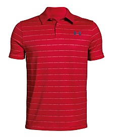 Under Armour Big Boys Striped Polo