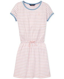 Polo Ralph Lauren Big Girls Striped Cotton Jersey T-Shirt Dress