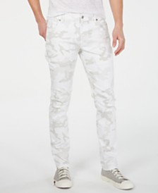 American Rag Men's Slim-Fit White Camo Jeans, Created for Macy's