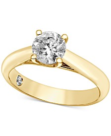 Diamond Solitaire Engagement Ring in 14k White Gold (1-1/2 ct. t.w.) (Also Available in Yellow Gold)