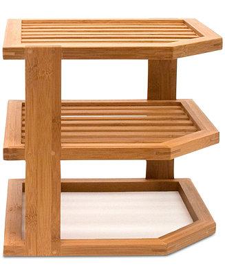 Bamboo 3 Tier Corner Shelf by General