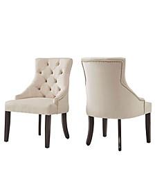 Alvia Ii Velvet Button Tufted Wingback Hostess Chair Set Of 2