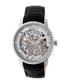 Heritor Automatic Ryder Genuine Leather Watch 44mm