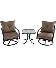 "Palm Bay 3-Piece Swivel Chat Set - 32"" x 24.2"" x 61"""
