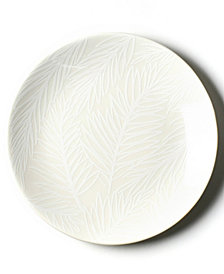 Coton Colors by Laura Johnson White Palm Salad Plate