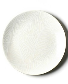 Coton Colors White Palm Salad Plate
