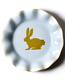 Coton Colors by Laura Johnson Smoke Rabbit Salad Plate