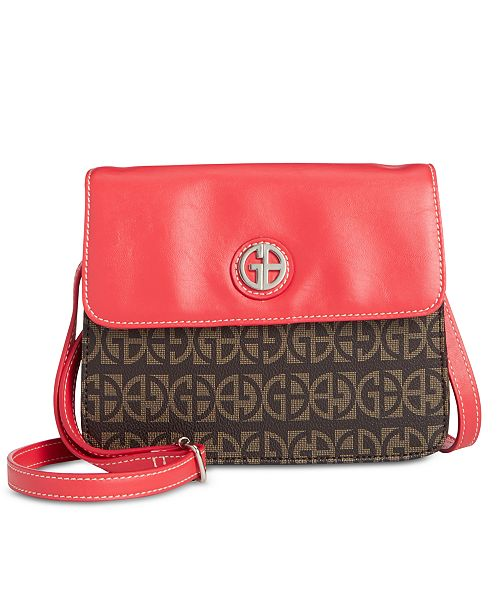 Giani Bernini Colorblocked Signature Crossbody Organizer, Created for Macy's