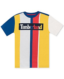 Timberland Big Boys Alstead Stripe Logo T-Shirt