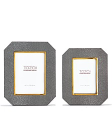 Two's Company Grey Stingray Photo Frames - Set of 2