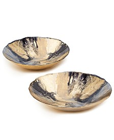 Nuit dOr Gold and Black Bowls - Set of 2
