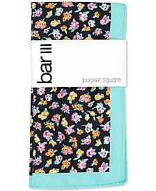Bar III Men's Newbury Floral Pocket Square, Created for Macy's