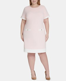 Tommy Hilfiger Plus Size Piqué Pocket Dress