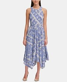 Tommy Hilfiger Denim Floral Midi Dress