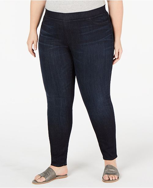 6a83c14aea Eileen Fisher Plus Size Pull-On Denim Leggings & Reviews - Jeans ...