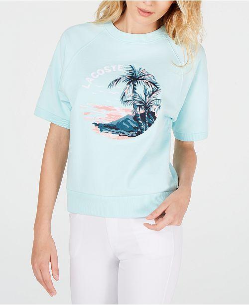 shirtCritiques Aquarium Hawaiian Graphic Light Femme Blue Lacoste Tops T ONPkZ0Xnw8