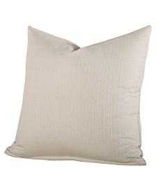 """Siscovers Linen Cream 26"""" Designer Euro Throw Pillow"""