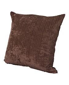 "Siscovers Vintage Cognac 16"" Designer Throw Pillow"
