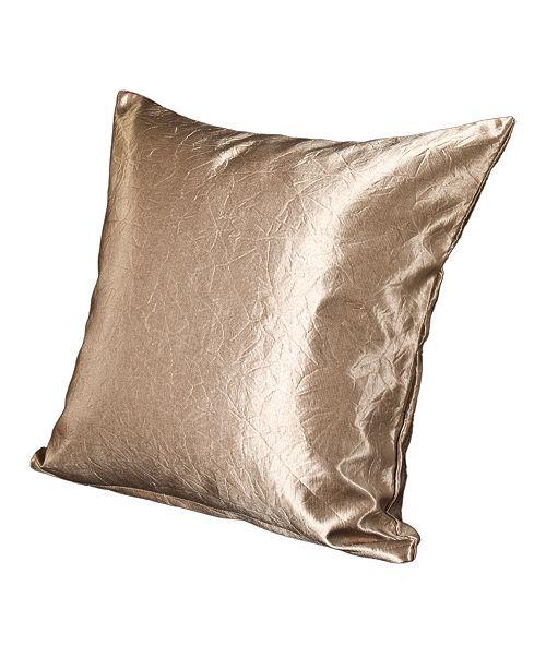 "Siscovers Glistening Gold 16"" Designer Throw Pillow"