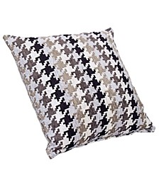 "Hound Dog Charcoal 20"" Designer Throw Pillow"