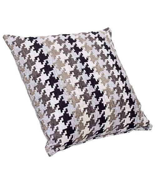 """Siscovers Hound Dog Charcoal 20"""" Designer Throw Pillow"""
