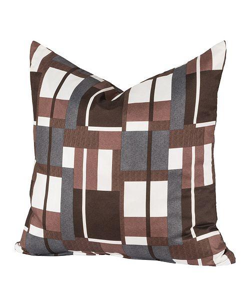 "Siscovers Plaid Men 16"" Designer Throw Pillow"
