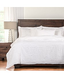 Tattered White 6 Piece Full Size Luxury Duvet Set