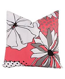 """Crayola Flower Patch 16"""" Designer Throw Pillow"""