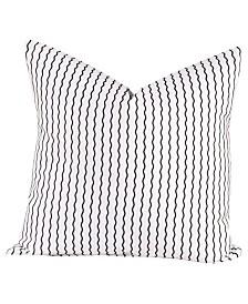 """Crayola Serpentine Stripe Licorice 16"""" Designer Throw Pillow"""