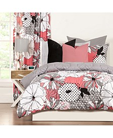 Flower Patch 5 Piece Twin Luxury Duvet Set