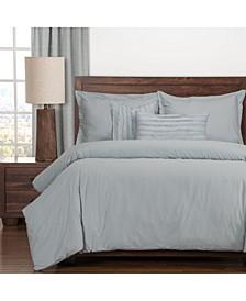 Classic Cotton Blue 5 Piece Twin Luxury Duvet Set