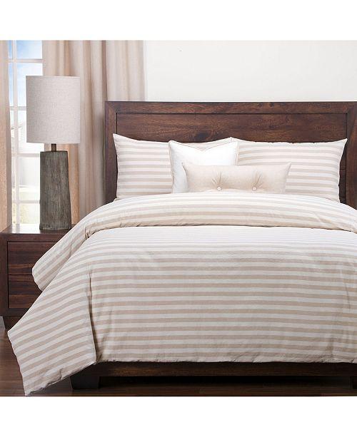 Siscovers Farmhouse Barley Striped 6 Piece Full Size Luxury Duvet Set