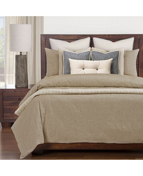 Siscovers Haystack Ticked Stripe Farmhouse 6 Piece Cal King High End Duvet Set