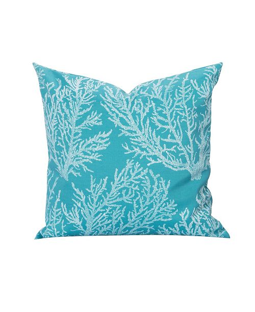 "Siscovers Seacoral Inddor-Outdoor 20"" Designer Throw Pillow"