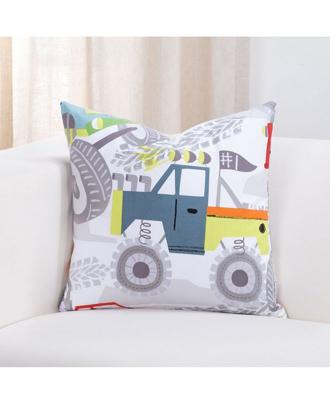 "Crayola Four Wheelin' Monster truck 16"" Designer Throw Pillow"