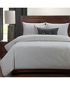 Everlast Stripe Juniper Stain Resistant 5 Piece Twin Duvet Set