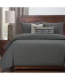 Everlast Slate Stain Resistant 5 Piece Twin Luxury Duvet Set