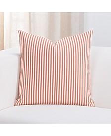 "Everlast Stripe Apricot 16"" Designer Throw Pillow"