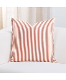 "Revolution Plus Everlast Stripe Apricot 16"" Designer Throw Pillow"