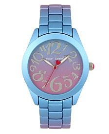 Purple & Blue Stainless Steel Case Watch