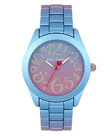 Betsey Johnson Purple & Blue Stainless Steel Case Watch